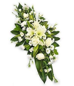 White Funeral Spray