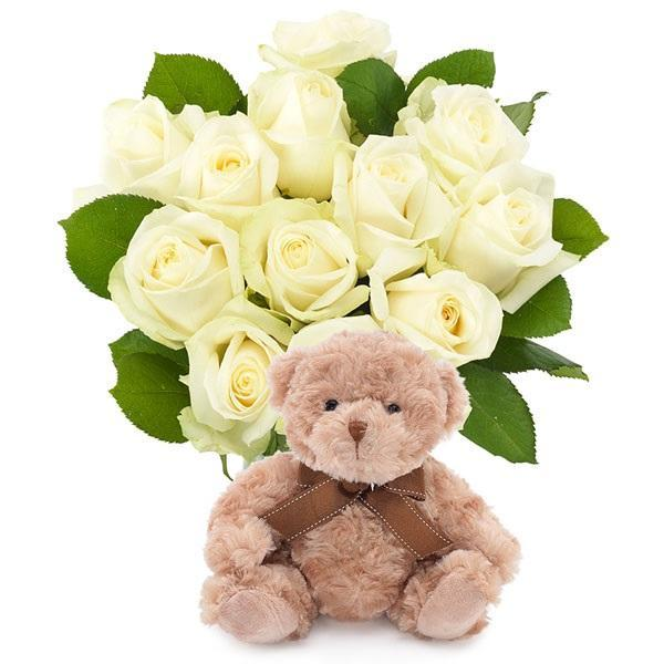 White Roses and Teddy