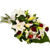 Sympathy Roses and Lilies